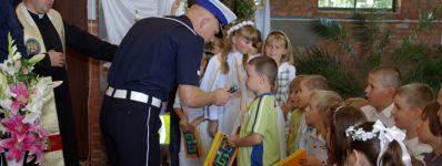 2011.09.04 Poświęcenie tornistrów ispotkanie zpolicjantami